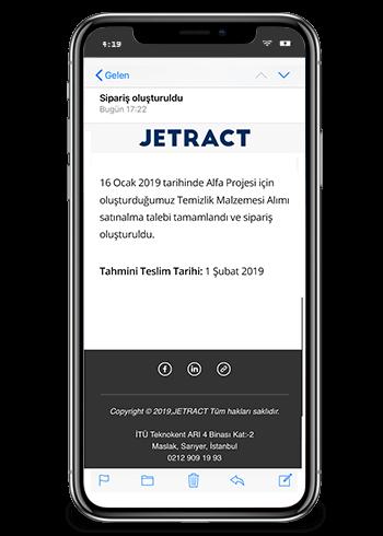 Jetract Satınalma Talep Yönetimi Bildirimi